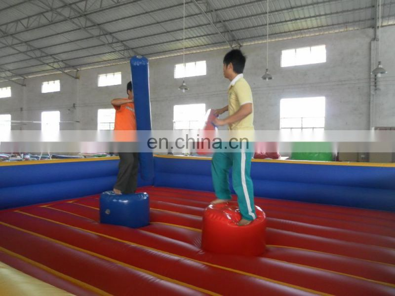 Inflatable crazy Chutes game gladiator arena for adults