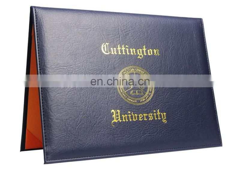 Clip File Type and Leatherette Material Diploma Covers