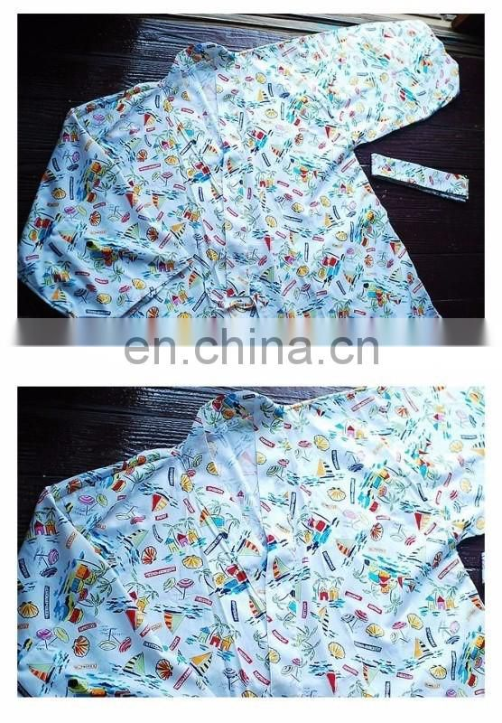 Good Quality Japanese Summer Sea Beach Kimono Dress
