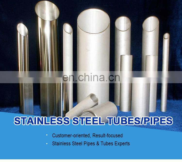 stainless steel pipe with mirror polished grit 600 surface