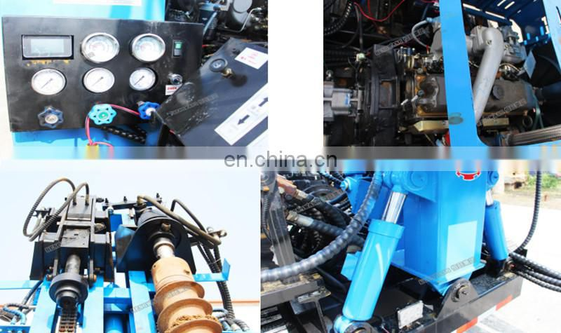 Double Power Head Pile Machine