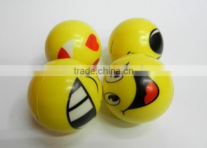 face one side children toy balls Soft anti stress ball,PU foam Ball