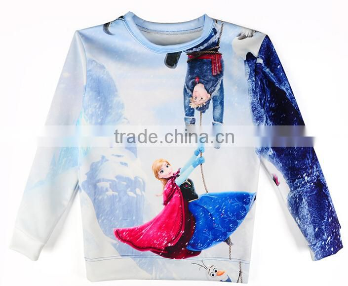 fashion girls hoodies baby pullover children frozen clothes