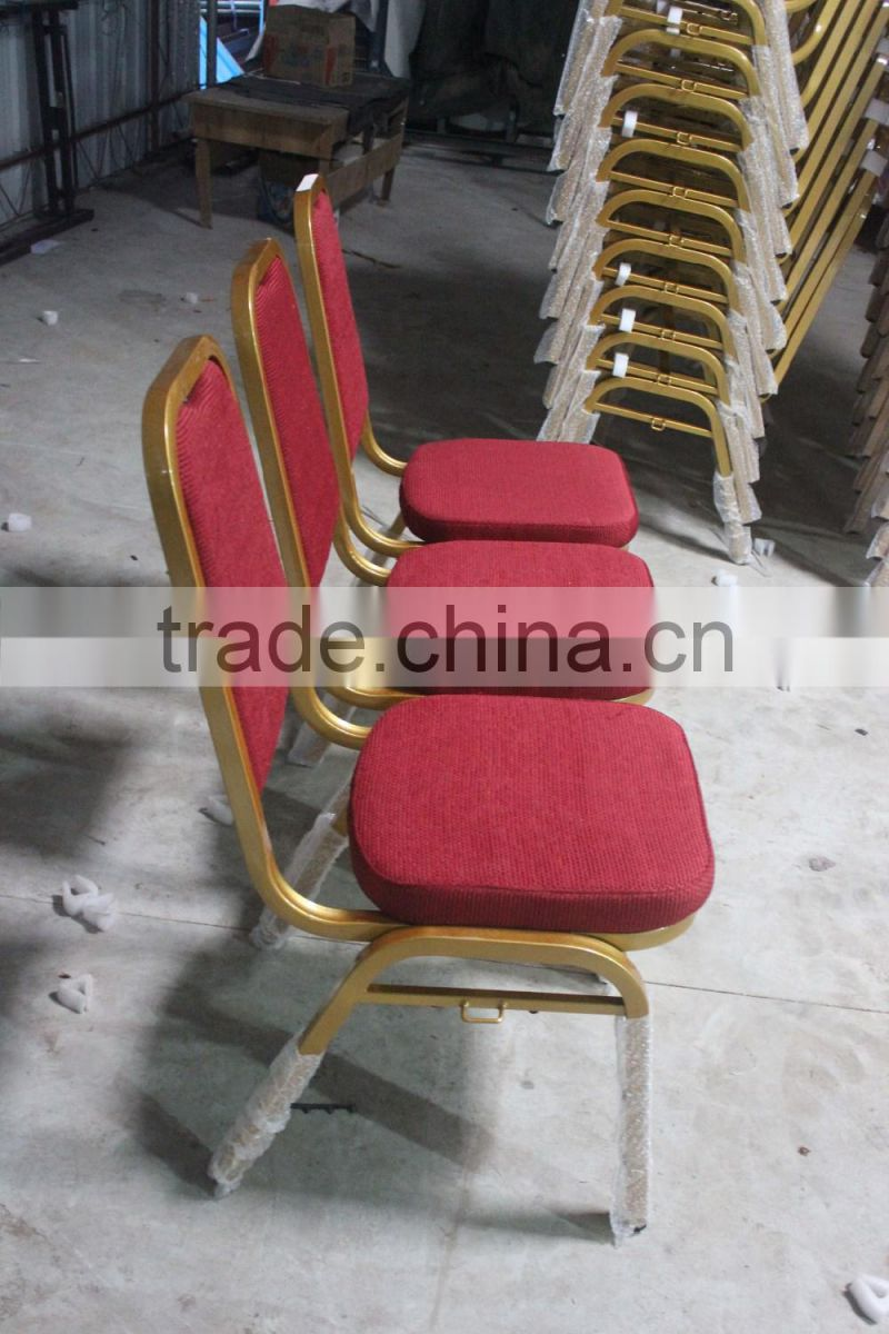Good Quality Strong Stackable Steel Backrest Banquet Chair