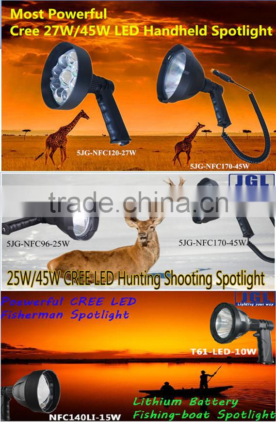 portable led lighting marine rechargeable LED brightest handheld spotlight 5JG-602E-BK