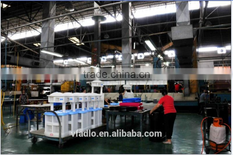 Manufacturing large food grade transportation plastic pie containers