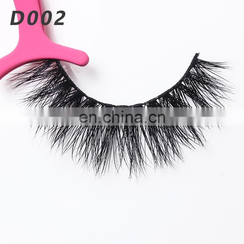 D002 3d mink eyelashes wholesale eyelash extension