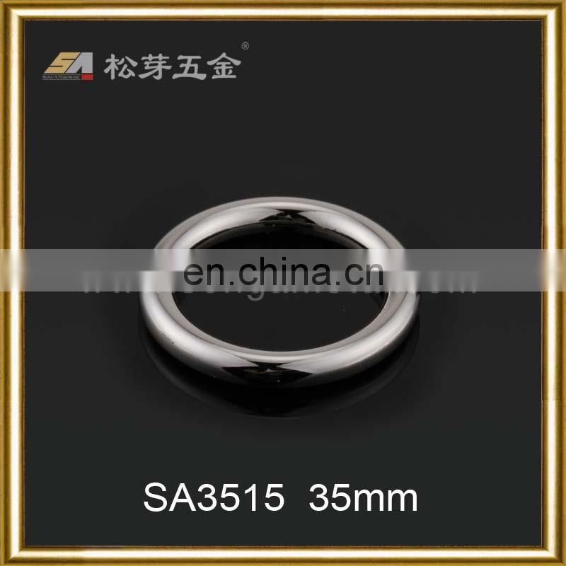 Hot Sale Customized Metal Bag O Ring Buckle, Custom Zinc Alloy O-ring For Fashion Bag