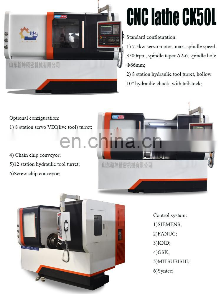 CK50L cnc lathe 8 station machine tools and equipment machine cnc lathe price