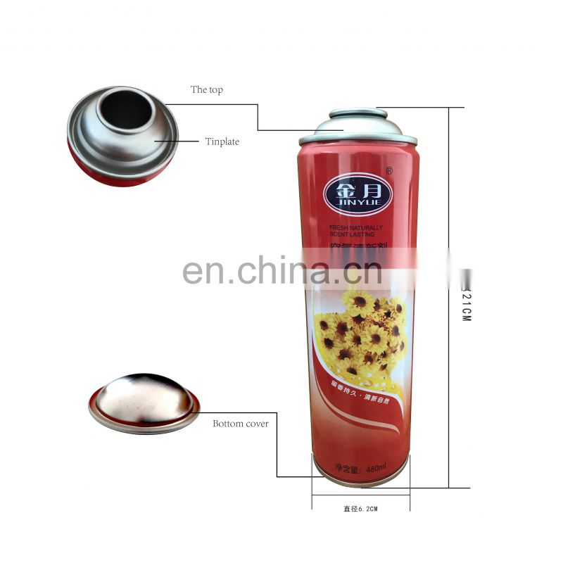 Hebei empty aerosol spray can for refilling air freshener with valves 480ml