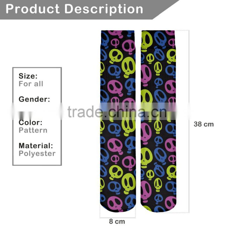 factory hot sale 3d digital full print colorful mens lanesboro sport socks men socks cotton