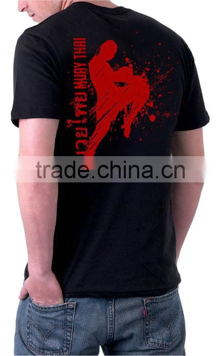 Wholesale good service customized boxing muay thai t shirt