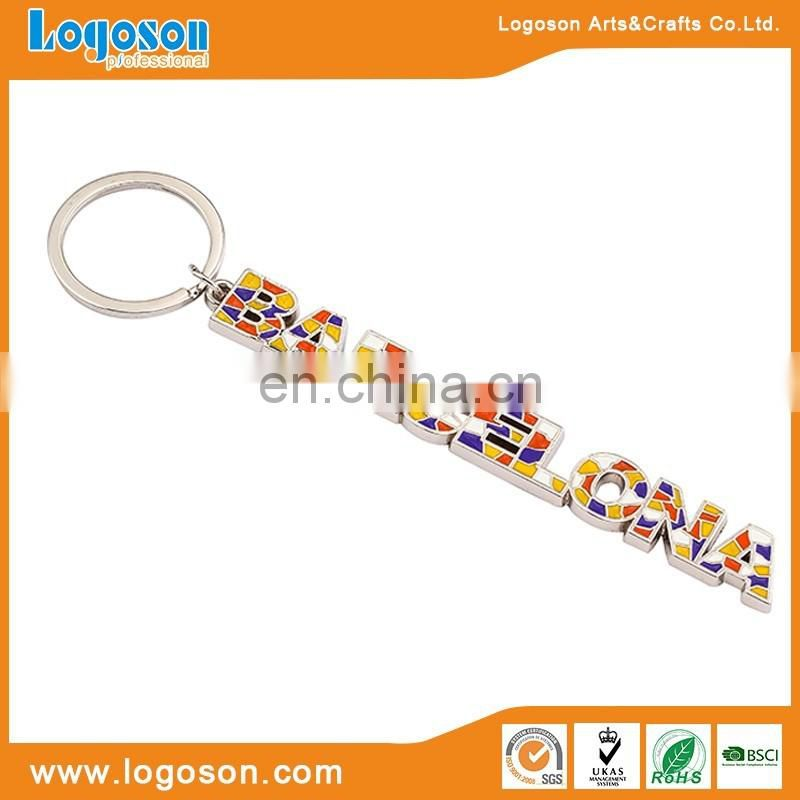 Customized alphabet letter design key chain with your own logo