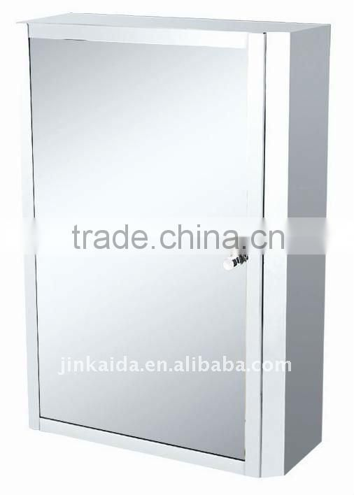Stainless steel bathroom mirror cabinet cupboard 6010