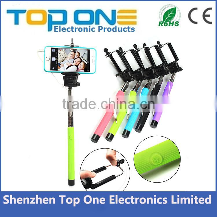 2015 Amazon Most Popular Handheld Extendable Z07-5S Mini Cable Wired monopod Selfie Stick