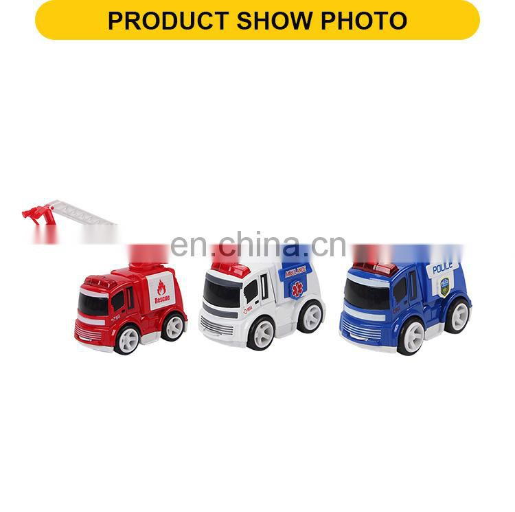 Window box packing friction mental toys car fire fighting truck