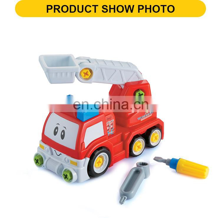 Fire truck toys the plastic disassembled cartoon feature toy fire truck