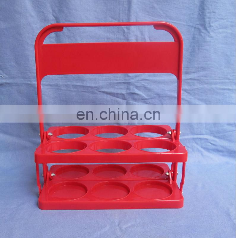 Elegant red plastic beer rack