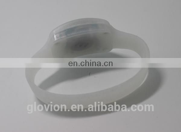 High quality Remode control LED silicone bracelet for party