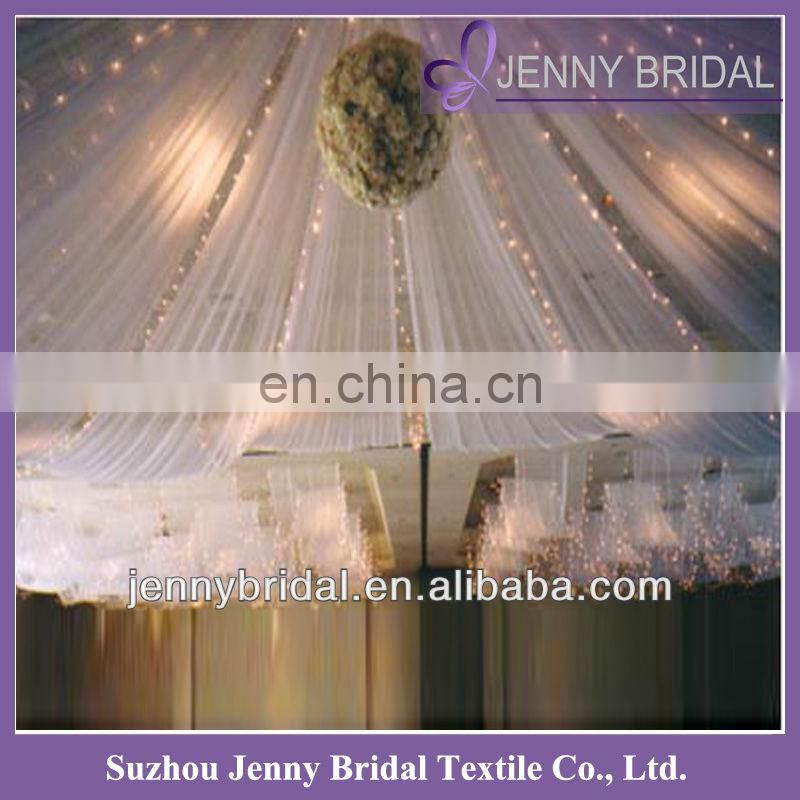 BCK035 2013 wedding chiffon and organza luxurious white backdrop for wedding