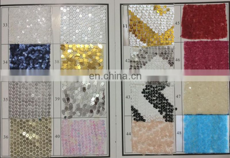 TR064#3 Hot sale gold Sequin handmade embroidered table runner