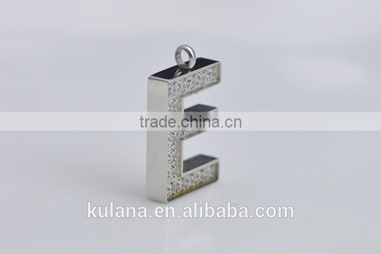 IN91207 New Design Alphabet Style Charm Pendant Initial Jewelry Stainless Steel Letter Necklace