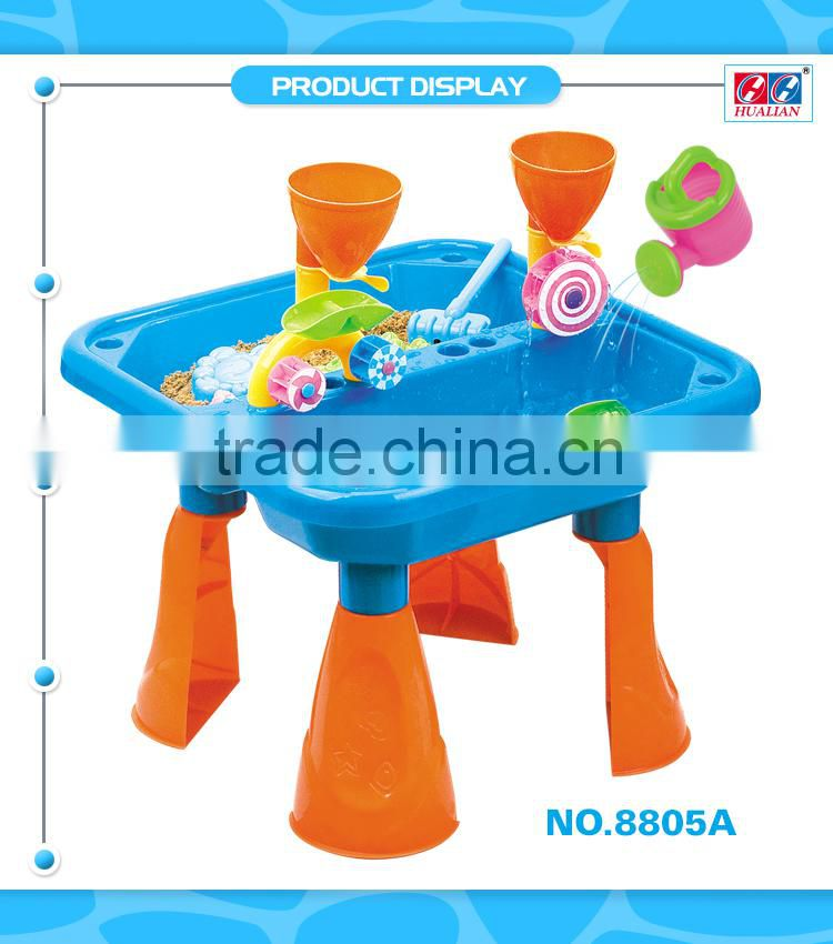 Baby toys Outdoor toys folding beach table sand play set wholesale 14pcs