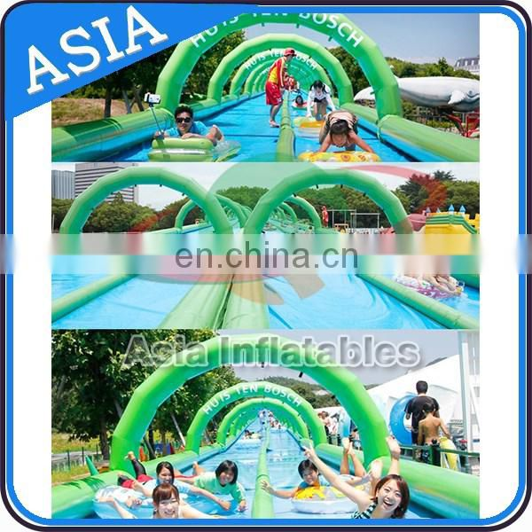 100m Dual Lanes Airtight Inflatable Water Slip n Slide The City / Slip Slide / Belly Slide