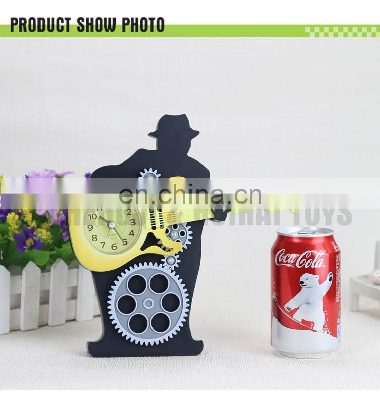 Plastic guitar shaped funny personalized alarm clock