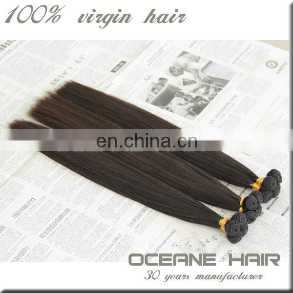 Free sample unprocessed no chemical remy human hair extension