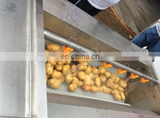 Potato carrot ginger cleaner machine/Vegetable Brush Washing Peeling Machine