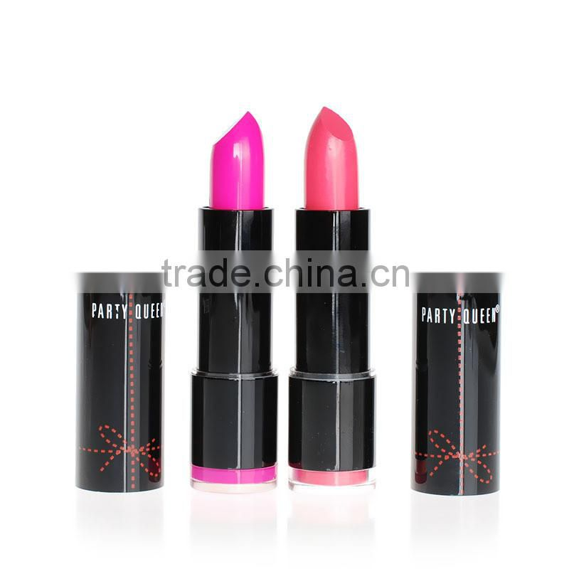 Party Queen 12 Color Lip Stick Bright Colorful lip waterproof private label lipstick