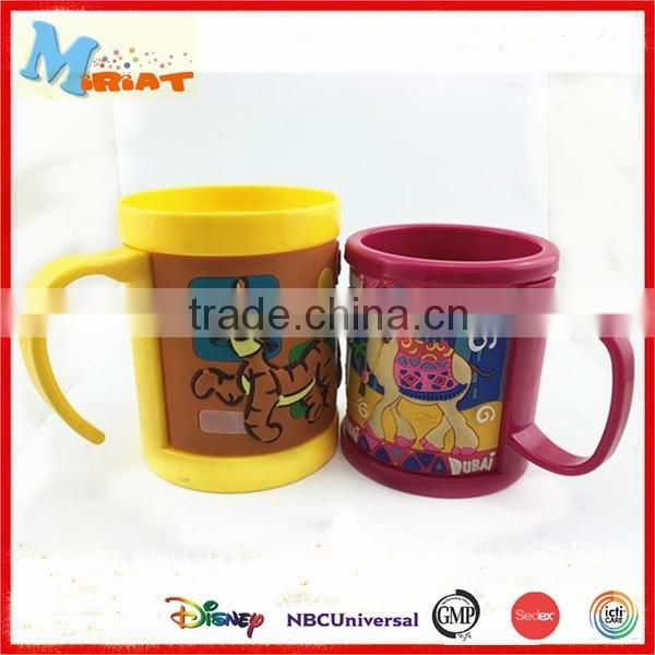 Eco-Friendly Feature soft pvc kids personalized plastic mugs