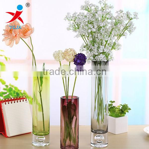 Europe type color hydroponic flower arranging transparent glass purple crystal vase fashion creative decorative furnishing artic