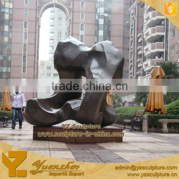 big garden decoration abstract cast bronze sculptures for sale
