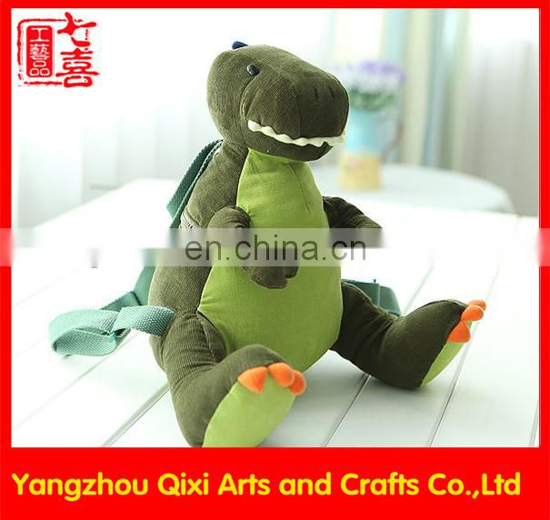 Best selling kids plush animals toy dinosaur backpack