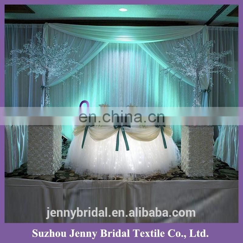 TC141B weddingtable skirting designs fancy table skirt