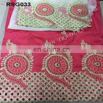 High Quality New Designs embroidery french lace fabric With Blouse