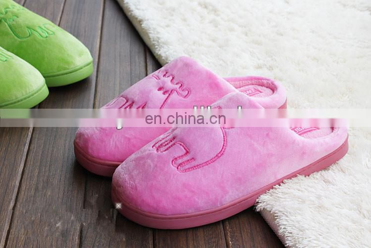 High Quality Washable Cowhells Soles Cotton Slipper
