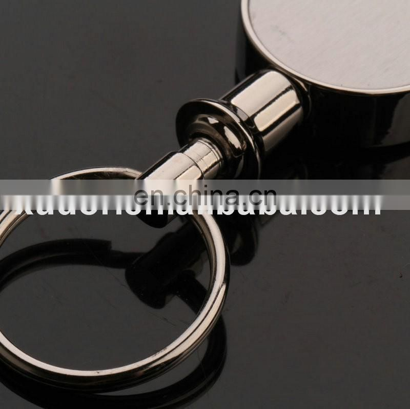 Customized round shape Separate Key Rings Separate Magnet Keychain
