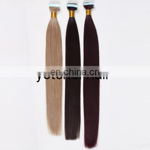 2015 New 100% Remy Human Hair Straight Tape Hair Extensions,Hair Extension Adhesive Tape,Micro Tape And Hair Extension
