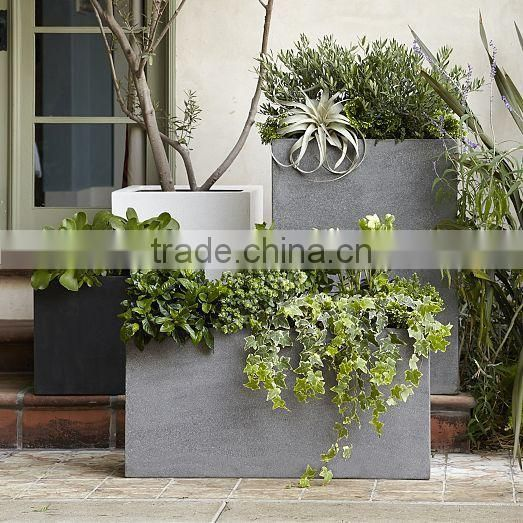Green Glossy Egg fiberstone planter, Outdoor durable polystone pots
