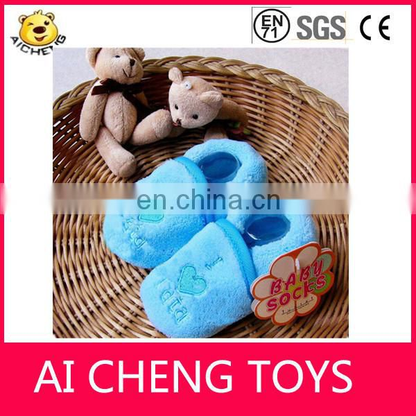 Lovely plush baby boots High quality standard baby plush shoes