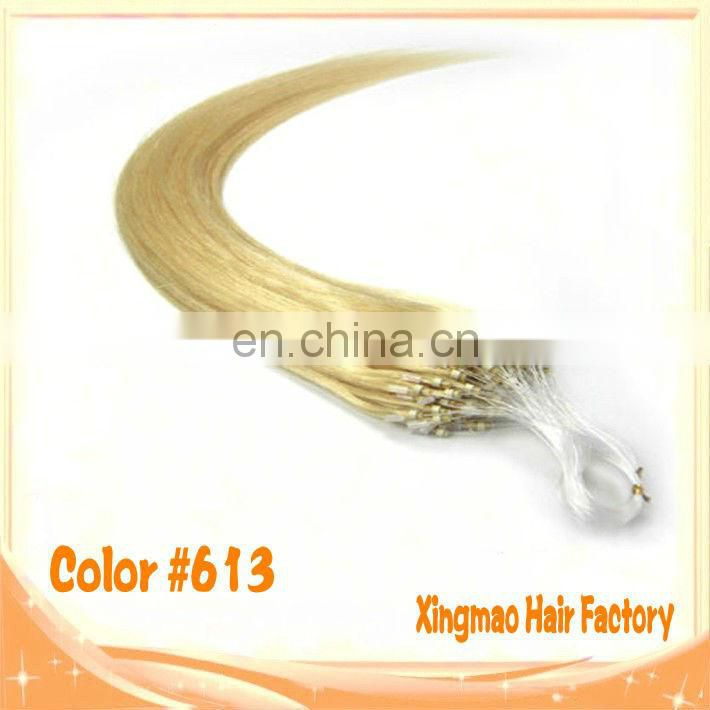 Tangle Free No Shedding Hair Factory 100% Brazilian Remy Human Micro Loop Hair Extension Double Drawn Human Healthy Hair