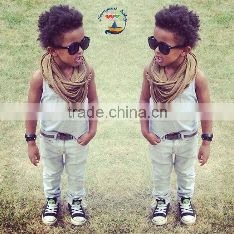 2015 Baby boy and girl matching outfits white t-shirt and pants boy clothing sets kids suits