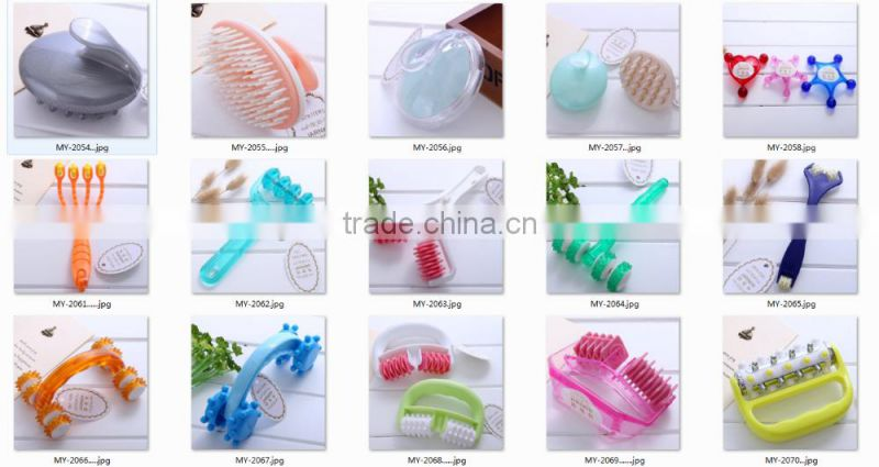 High quality plastic dual hand held scalp head massager