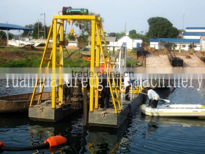 100 - 300 cub/h underwater dredging machine for river cleaning and construction