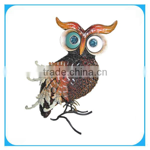 metal owl animal decoration of home decoration from china