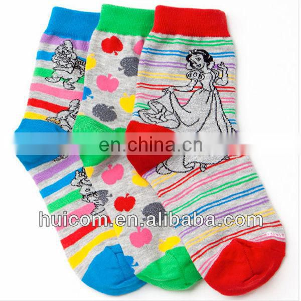 fancy polyester cotton socks
