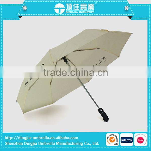 High Quality Fully Automatic Umbrella 3 Fold Auto Open/Close Umbrella Rainproof with Retail Package